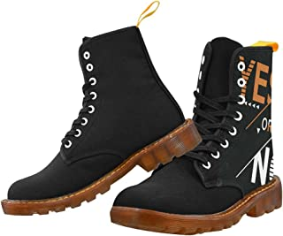 Artsadd Fashion Shoes Yes Or No Lace Up Boots For Women