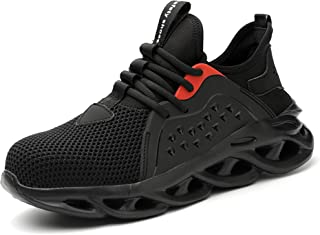 Lightweight Safety Shoes for Men Women Steel Toe Trainers Work Boots Mesh Breathable Sneakers Construction Industrial