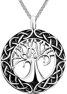 Dletay Tree of Life Urn Necklace for Ashes Memorial Ashes Keepsake Pendant Cremation Jewelry