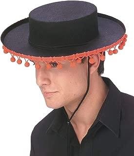 Adult Durashape Spanish Hat w/Pompoms - ST