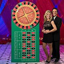 7 ft. 4 in. Vegas Casino Spinning Roulette Wheel Standup Photo Booth Prop Background Backdrop Party Decoration Decor Scene Setter Cardboard Cutout