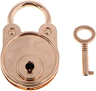 Perfeclan Vintage Antique Style Mini Bear Shape Padlocks Key
