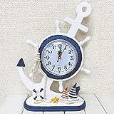 イカリの置き型時計 アンカー ヨット 浮き輪 時計 卓上時計 インテリア マリン雑貨 アジアン雑貨