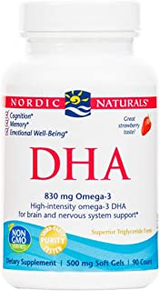 Nordic Naturals - DHA, Brain and Nervous System Support, 90 Soft Gels