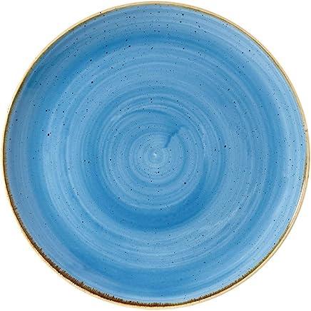 Preisvergleich für Coupe Teller, 'Stonecast', Porzellan, blau , Churchill
