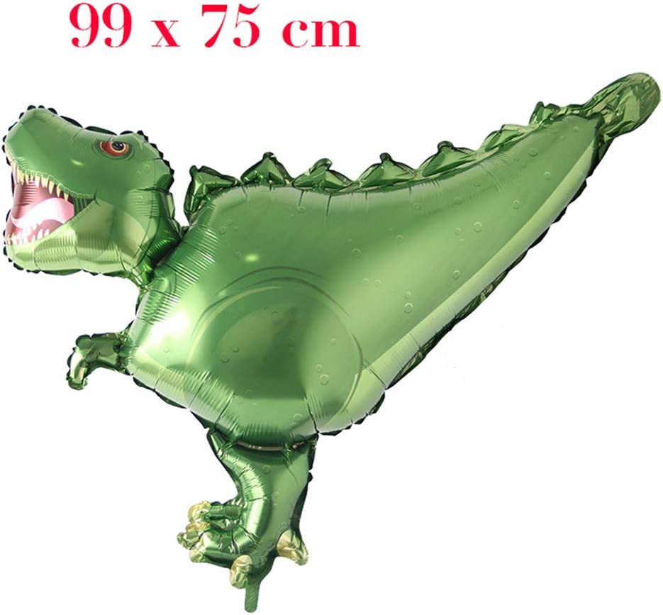 Roar Rose Red Roar RAWR Dinosaur Tyrannosaurus Animal Balloons for Birthday Party Baby Shower Decoration Kit Inflatable Party Supplies Decorations Gift Kids and Adults