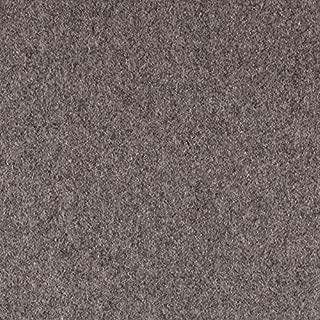 TELIO Wool Blend Melton Light Grey Mix Fabric by The Yard