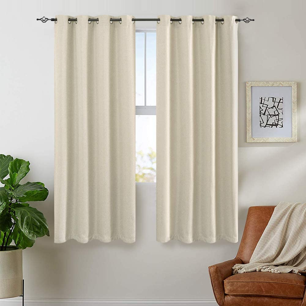 Lazzzy Linen Textured Curtains Directly managed store for Darkenin 63 Bedroom Room Inch quality assurance