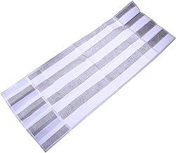 TOPBATHY - Funda para nevera (resistente al polvo, para microondas, con bolsa para cocina en casa, a rayas, 85 x 34,5 cm), color gris
