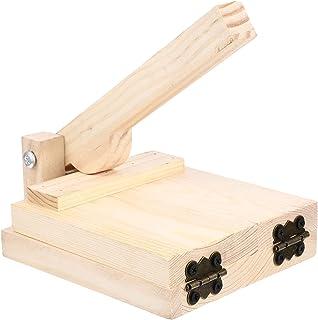 Minkissy Wood Tortilla Press Convenient Pressing Tool Wooden Tortilla Presser Pizza Dumpling Dough Pastry Press Reusable K...