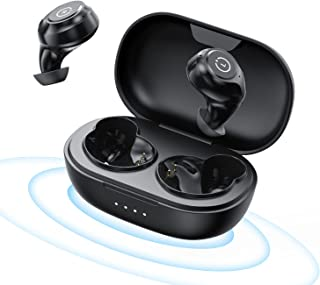 Wireless Earbuds, Qualcomm Chip Apt-x Bluetooth Earbuds CVC8.0 Noise Reduction Stereo Call 8 Hours Continuous Playtime Bla...