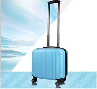 DSLE Hard rotating suitcase, carry-on luggage, trolley case, high quality, travel organizer, best gift, 20/24 inch, black Travel luggage (Color : Light blue)