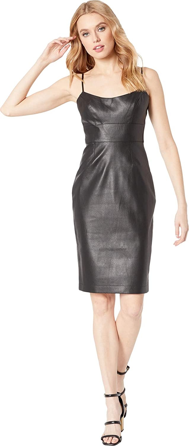 BCBGMAXAZRIA Womens Alese Faux Leather Dress