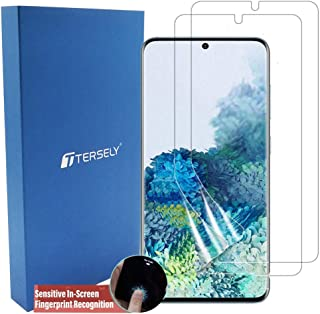 TERSELY Screen Protector for 2020 Samsung Galaxy S20 6.2 Inch, [2 Pack] Full Coverage HYDROGEL Aqua Screen Protector Flexi...
