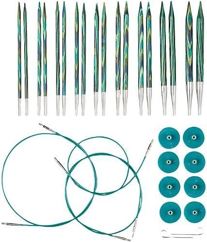 Knit Picks Options Wood Interchangeable Knitting Needle Set - US 4-11 (Caspian)