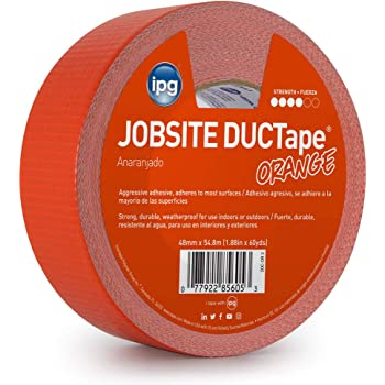 """IPG 20C-OR 2 JobSite DUCTape Colored Duct Tape, 1.88"""" x 60 yd, Orange"""