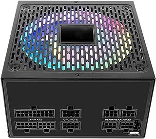 Fullt Modulärt 80 PLUS Guldmedalj Strömförsörjning 550W 100-240V Tyst Fläkt med 16,8 Miljoner Färger RGB-ljuseffekt, för S...