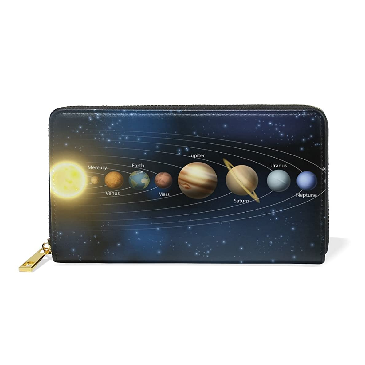 信じる小売逆さまにAOMOKI 財布 長財布 ラウンドファスナー 本革 大容量 通学 通勤 旅行 惑星