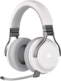 CORSAIR VIRTUOSO RGB WIRELESS High-Fidelity Gaming Headset, White, CA-9011186-NA