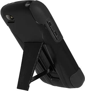 Amzer 双层混合保护套带支架双层混合保护套带支架,适用于 BlackBerry Q10(耐冲击保护套带媒体支架)