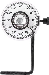 SANON 1/2 Zoll Verstellbarer Antriebswinkel Torsionsschlüssel Maßnahme, Torsionswinkelmesser, Auto Messgerät Werkzeugsatz 360 Grad Winkel