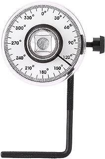 Llave de torsión, 1 juego Tbest 1/2 pulgada Ángulo de accionamiento ajustable Llave de torsión Medida Juego de herramientas de calibre para automóviles Ángulo de 360 grados Se adapta a herramientas