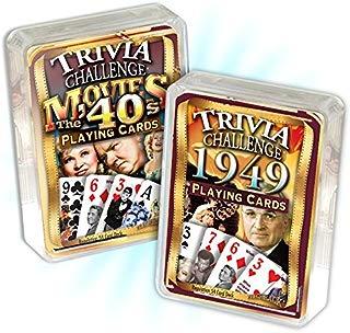 Flickback Media, Inc. 1949 Trivia Playing Cards & 1940's Movie Trivia Card Combo: Happy 70th Birthday