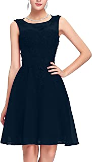 TalinaDress Women Short Sheer Neck Bridesmaid Dress with Beadings E243LF