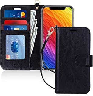 "FYY Luxury PU Leather Wallet Case for iPhone Xr (6.1"") 2018, [Kickstand Feature] Flip Folio Case Cover with [Card Slots] a..."