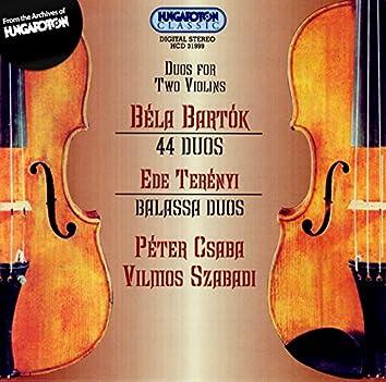 Bartok 44  Duos for Two Violins / Tereny: Balassa Duos