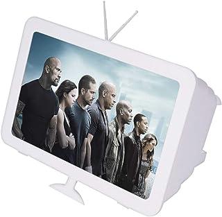 Portatile 8 Pollici Amplificatore per Schermo Sottile Proteggi Gli Occhi Supporto Amplificatore Schermo Film HD Legno Avanzato Regalo di Natale ASHATA Schermo Amplificatore per Smartphone