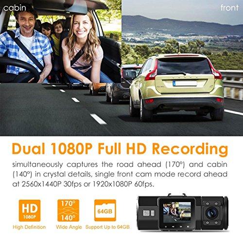 Vantrue N2 Pro Dual Dashcam full HD 1080P Auto Kamera - 2