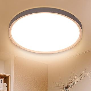 Plafonnier LED Rond 24W 2520LM - Luminaire Plafonniers 3000K Blanc Chaud Éclairage de Plafond Lampe Plafond Ø30 cm pour In...