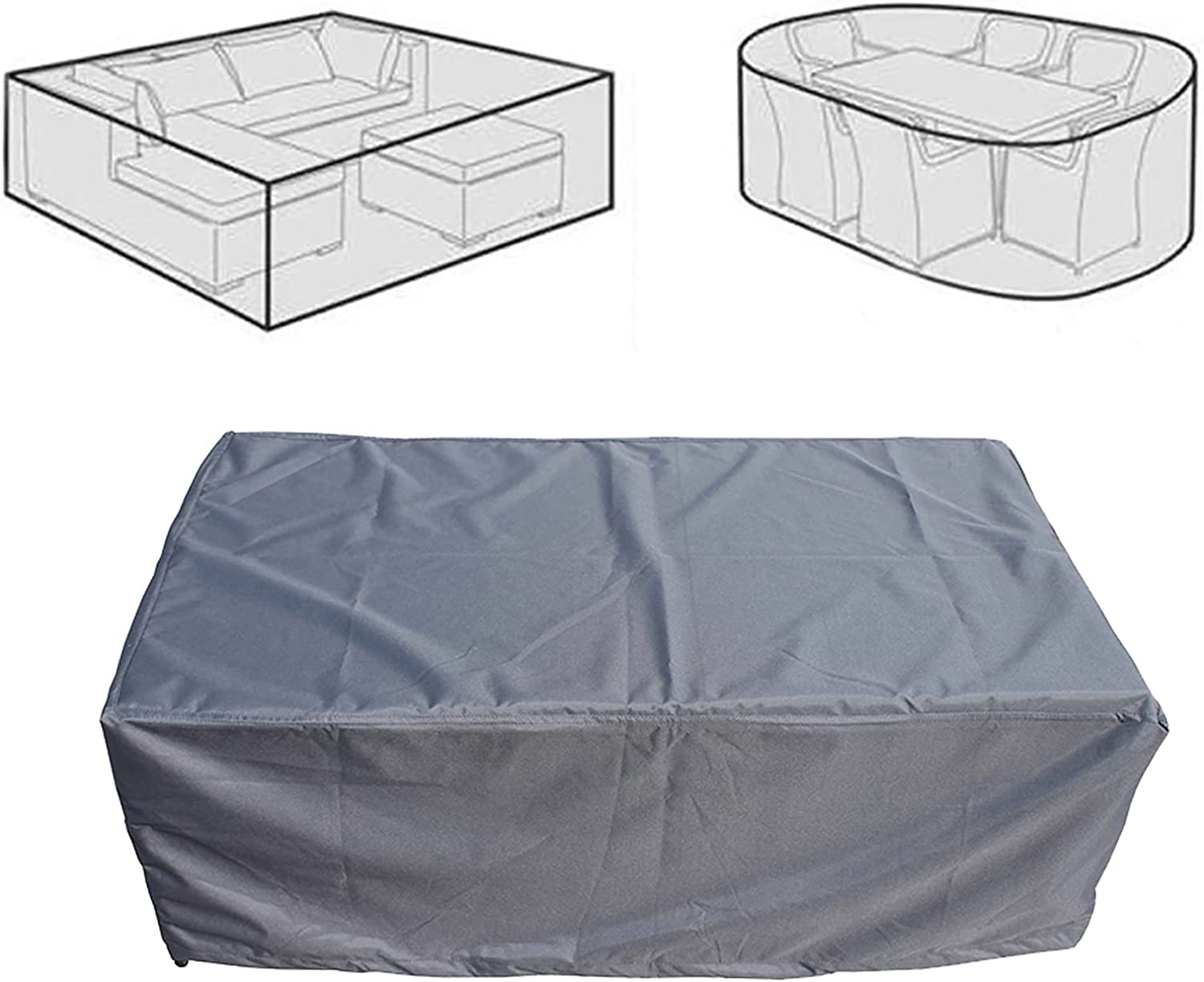 AWSAD Garden Sofa Max 47% OFF Cover All-Weather D Upgraded Material Cheap bargain Bottom