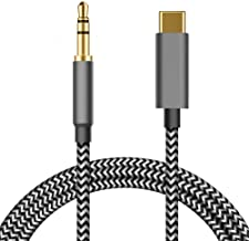 AD ADTRIP Type C to 3.5mm Audio Aux Jack Adapter USB C Male to 3.5mm Male Audio Cord Car Aux Cable Headphone Adapter for Google Pixel 2/2 XL/3/3 XL, Moto Z, Samsung Galaxy S9/S9+/S8/8 More -1m