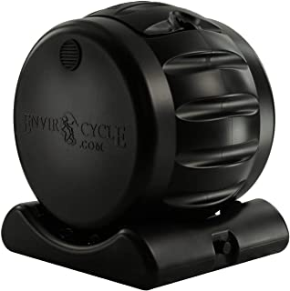 Envirocycle The Most Beautiful Composter in The World, Made in The USA, Food Safe, BPA and Rust Free, No Assembly Required, Composting Tumbler Bin and Compost Tea Maker (Renewed)