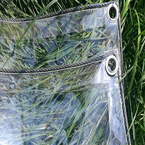 WUDAXIAN Lona Resistente a Prueba de Agua, con Ojales Impermeable Antidesgarro Aislamiento Resistente a los Rayos UV para Muebles de jardín Trampolín Madera Camping