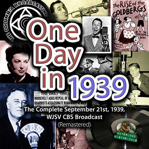 One Day in 1939 copertina