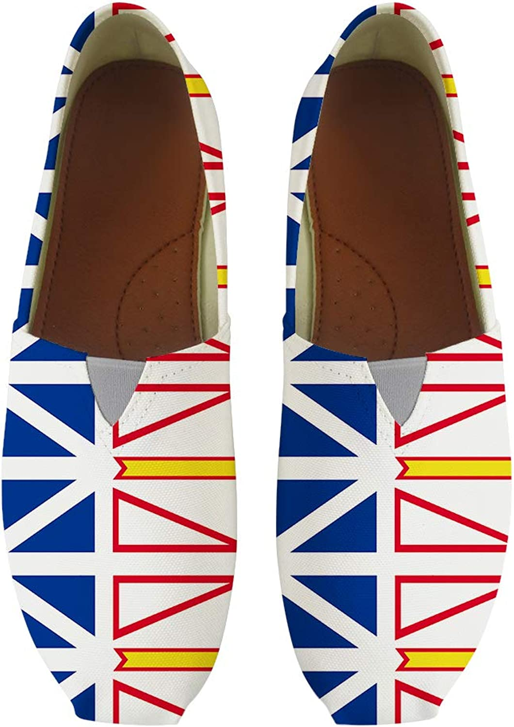 Owaheson Classic Canvas Slip-On Lightweight Driving shoes Soft Penny Loafers Men Women Newfoundland and Labrador Flag