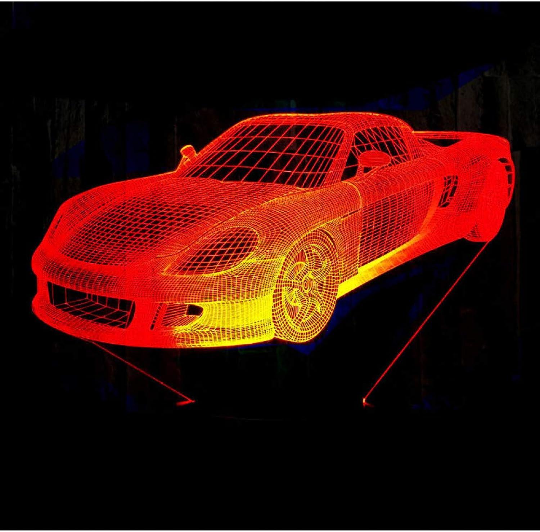 Sakj-d 3D Led Nachtlicht Musik Sportwagen Roadster Rennrad Mit 7 Farben Licht Für Heimtextilien Lampe Erstaunliche Visualisierung