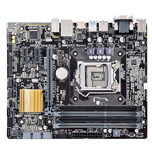 lilili Placa Base De Escritorio Ajuste para Fit For ASUS B85M-G Más DDR3 LGA 1150 I7 I5 I3 32G SATA3 USB2.0 USB3.0 Placa Base Placa Base