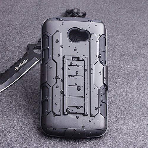 Cocomii Robot Belt Clip Holster LG K5 Hülle, Schlank Dünn Matte Ständer Drehbares Gürtelclip-Holster Verstärkter Fallschutz Mode-Handyhülle Hülle Bumper Cover Schutzhülle for LG K5 (Black)