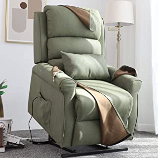 Irene House Power Modern Transitional Lift Chair Recliners with So Soft Breath Suede Fabric (Sage)