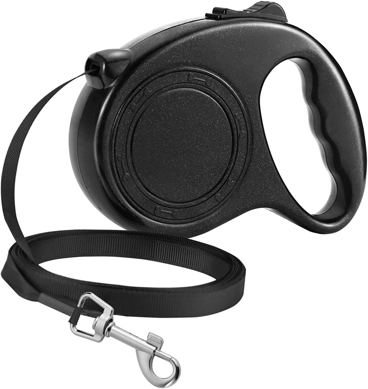 Namay Retractable Nylon Dog Leash One Button to Lock on Off, Ideal Medium Large Dogs(Black)