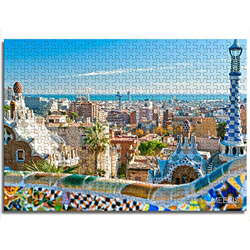 Juego educativo rompecabezas rompecabezas de juguete Barcelona Shop hotel familia decoración especial Mini 1000 piezas Puzzle de papel