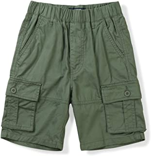 Navy Kids Scout Multi Pocket Cargo Shorts with Adjustable Waist