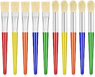 برس های مخصوص کودکان ، Anezus 10 قلم موهای رنگ بزرگ و برس مسطح و مسطح برای برس های آکریلیک قابل شستشو