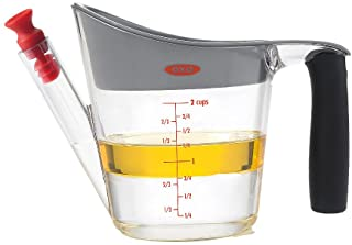 OXO Good Grips 2-Cup Fat Separator,Clear/White/Black,1 EA