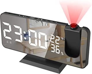 Projection Alarm Clock,Radio Digital Alarm Clock with USB Charger,7.4