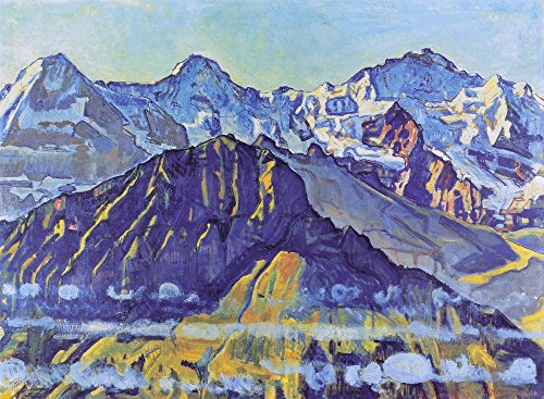 The Museum Outlet – Eiger, Monch und Jungfrau in der Morgensonne, 1908 – Poster Print Online Buy (76,2 x 101,6 cm)